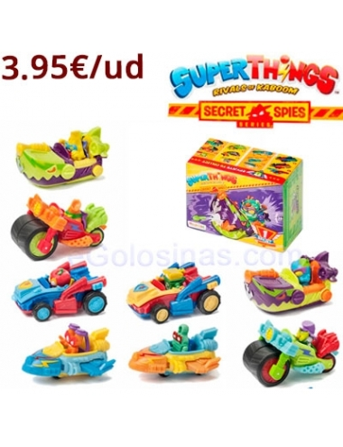 SUPERTHINGS Secret Spies SPY JET 8uds
