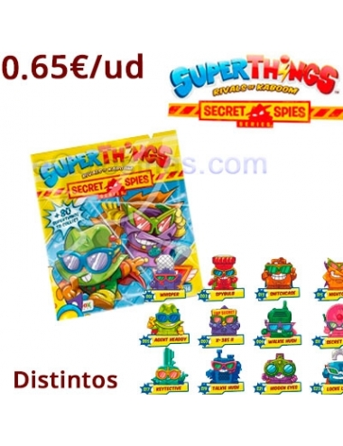 SUPERTHINGS Secret Spies ONE PACK 50uds