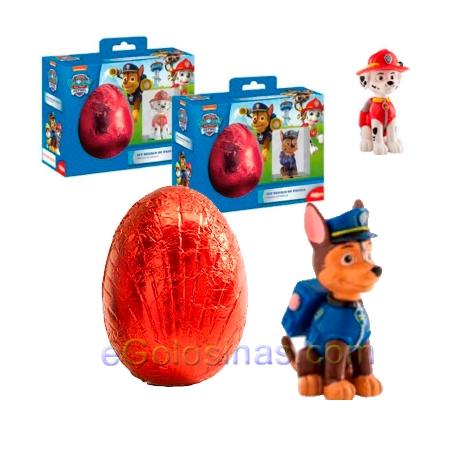 huevos sorpresa de chocolate patrulla