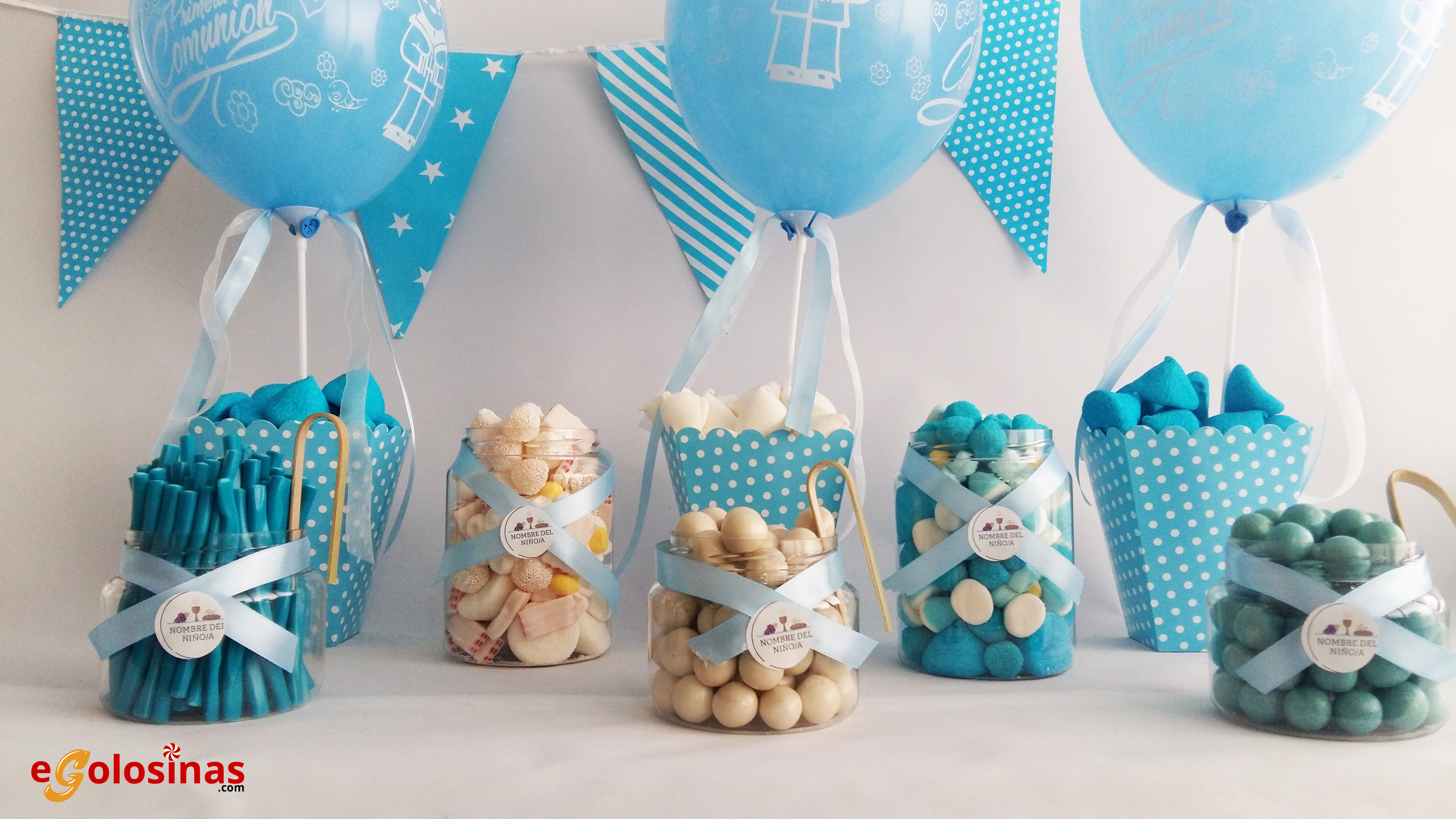 Baby shower nino decoracion azul con verde y cafe nemu for Mesa baby shower nino