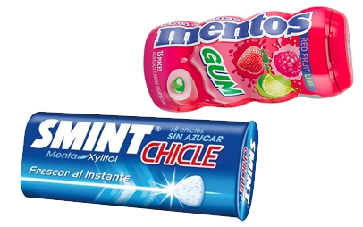 SMINT CHICLE y MENTOS CHICLE